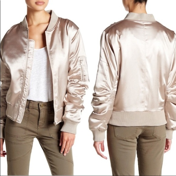 962e25530 💕NWT Champagne Pink Demolition Bomber Jacket💕 NWT